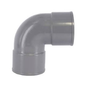 COUDE PVC A COLLE 90° FF